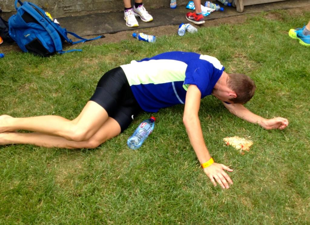 Efter 800m i Belgien
